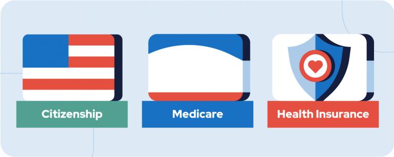 Citizenship, Medicare and Heath Insurance badges