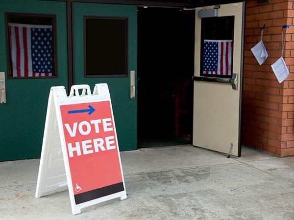 Empty polling location