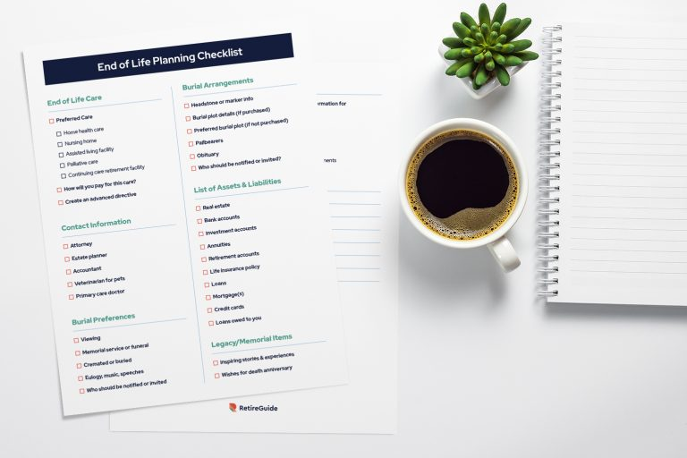 End of life planning checklist