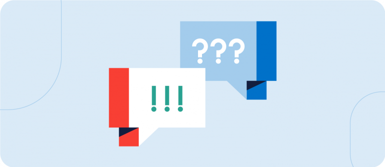 question marks and exclamation points illustration