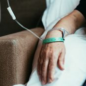 Man receiving infusion therapy