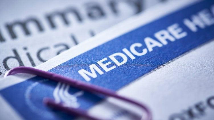Closeup of Medicare card